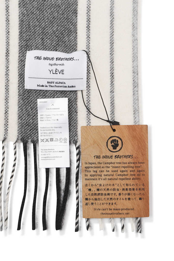 YLÈVE / THE INOUE BROTHERS DOUBLE FACE BRUSHED STOLE4