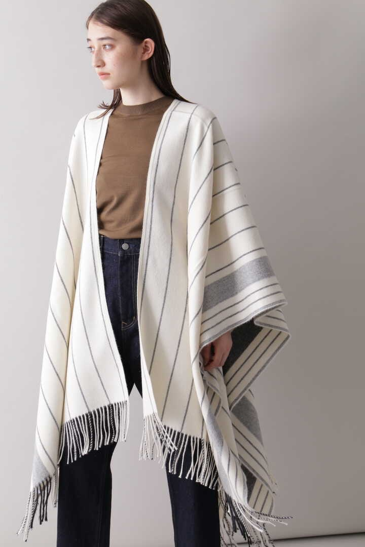 YLÈVE / THE INOUE BROTHERS DOUBLE FACE BRUSHED PONCHO6