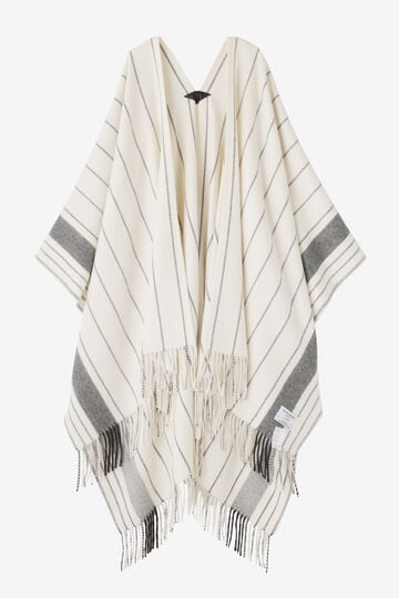 YLÈVE / THE INOUE BROTHERS DOUBLE FACE BRUSHED PONCHO_030
