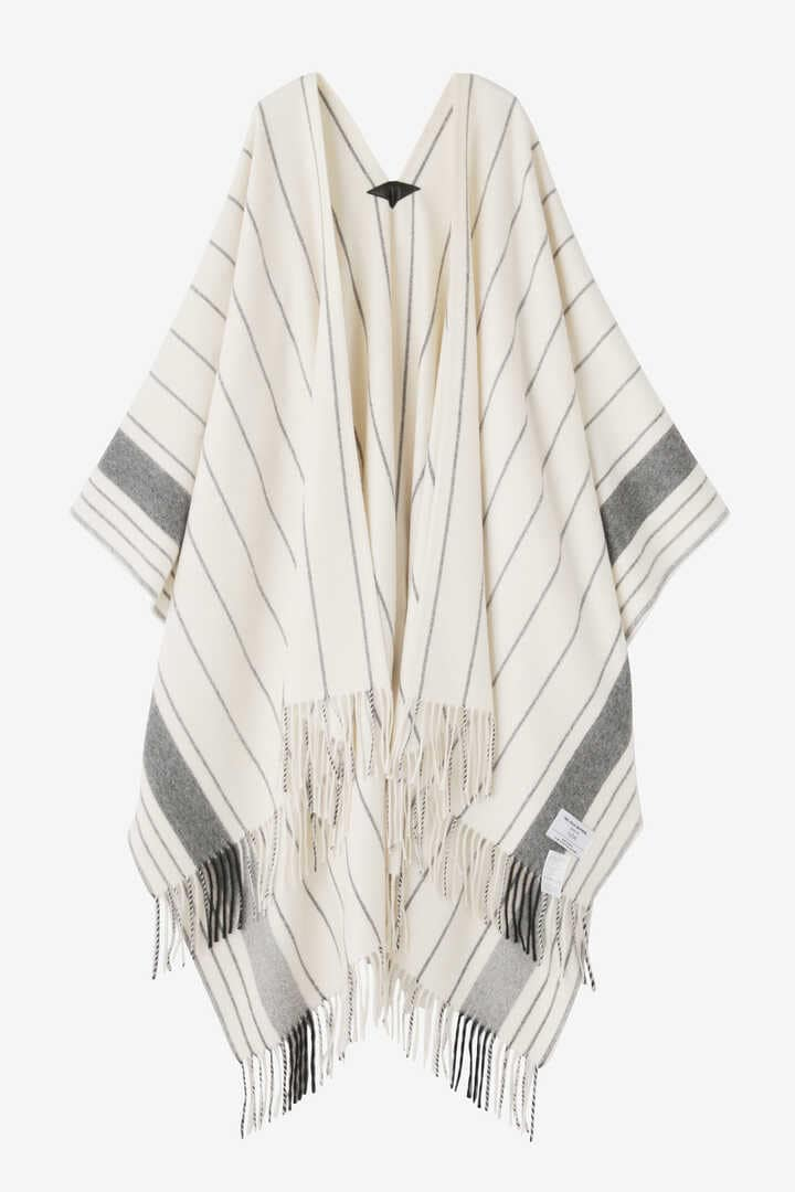 YLÈVE / THE INOUE BROTHERS DOUBLE FACE BRUSHED PONCHO1