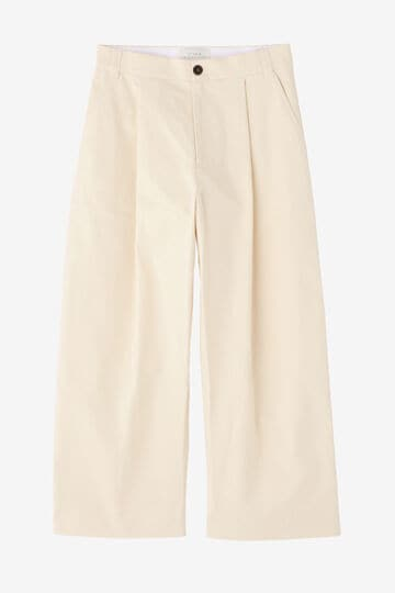 STUDIO NICHOLSON / PEACHED COTTON TWILL VOLUME PLEAT PANT_030