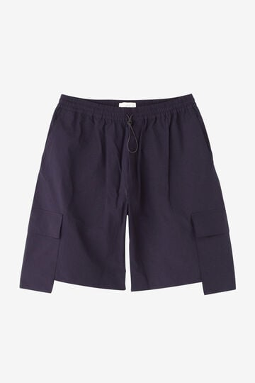 STUDIO NICHOLSON / TECHNICAL NYLON DROPPED POCKET ELASTICATED SHORT_120