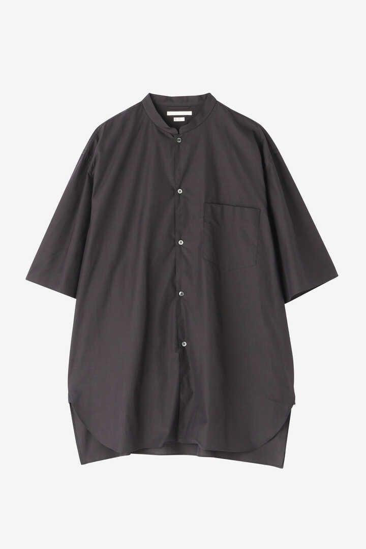 BLURHMS / HIGH COUNT CHAMBRAY STAND-UP COLLAR SHIRT S/S3