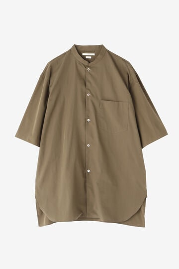 BLURHMS / HIGH COUNT CHAMBRAY STAND-UP COLLAR SHIRT S/S_030