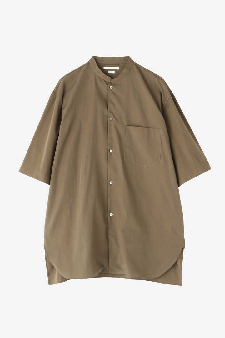 BLURHMS / HIGH COUNT CHAMBRAY STAND-UP COLLAR SHIRT S/S1