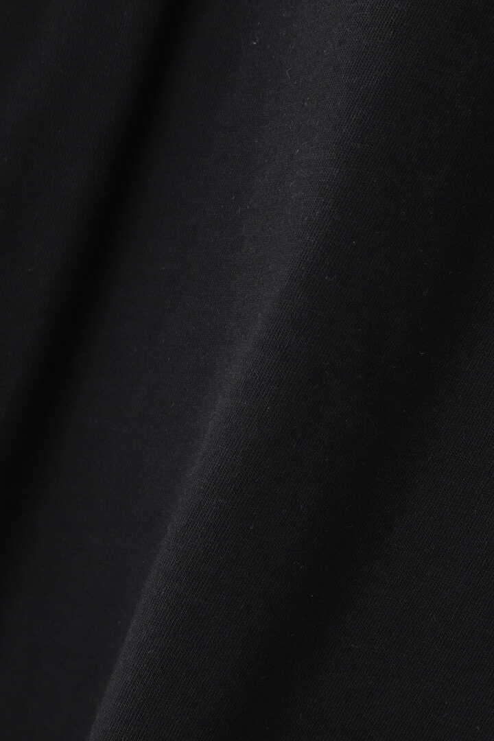 STUDIO NICHOLSON / LW COMPACT COTTON BRANDED SHORT SLEEVE MOCK NECK T9