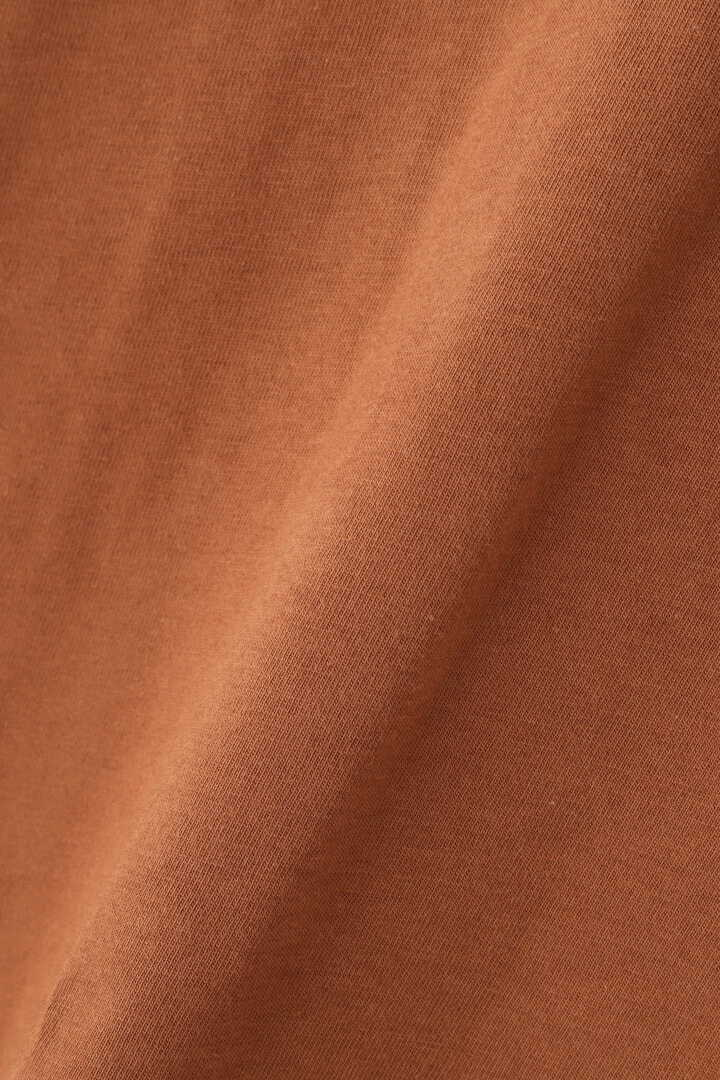 STUDIO NICHOLSON / LW COMPACT COTTON BRANDED SHORT SLEEVE MOCK NECK T7