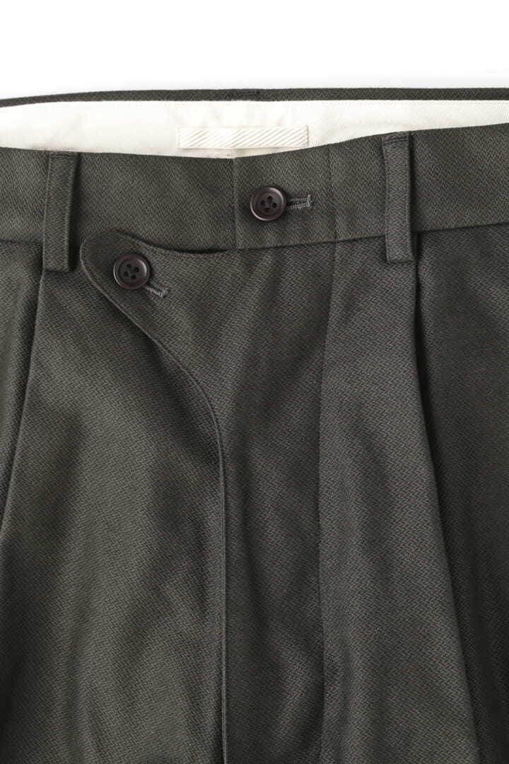 BLURHMS / BROKEN CLOTH CURVE FRONT SLACKS3
