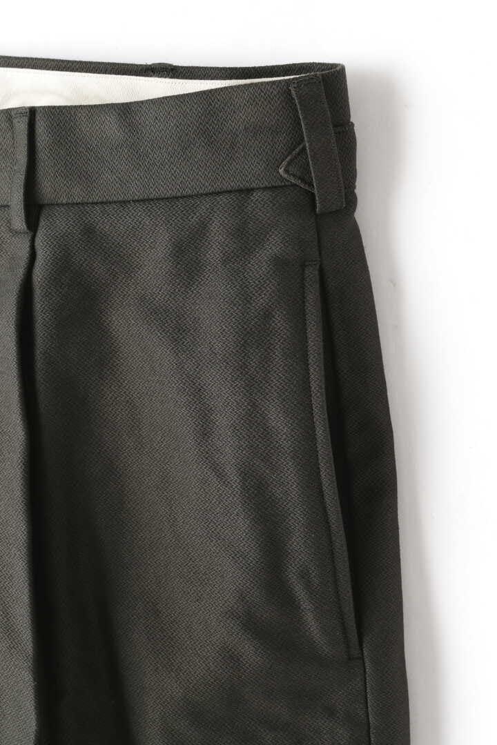 BLURHMS / BROKEN CLOTH CURVE FRONT SLACKS4