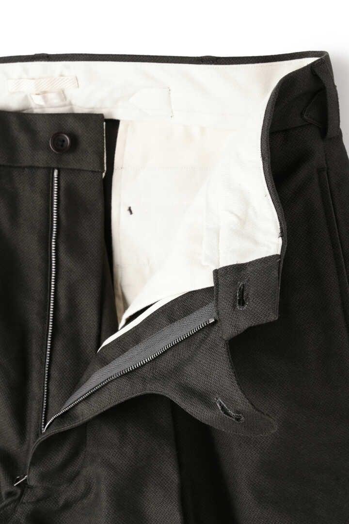 BLURHMS / BROKEN CLOTH CURVE FRONT SLACKS7