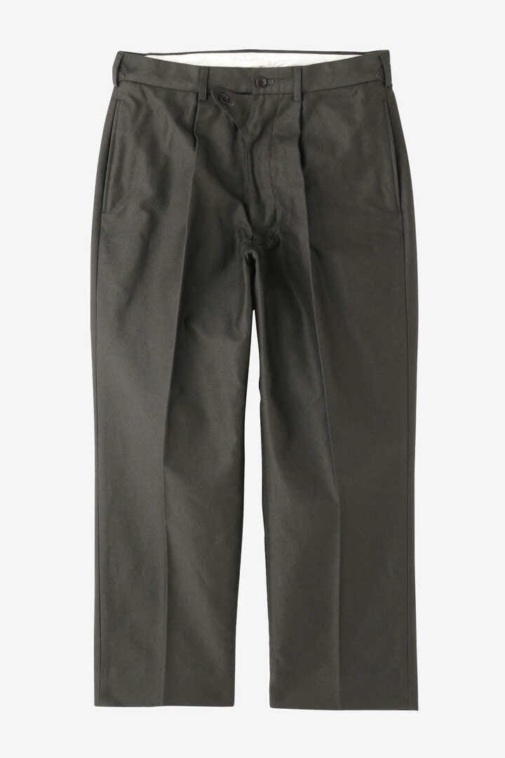 BLURHMS / BROKEN CLOTH CURVE FRONT SLACKS1