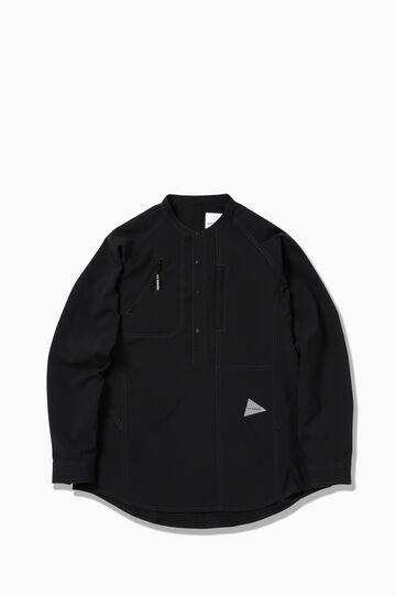 UV strech rip band collar shirt