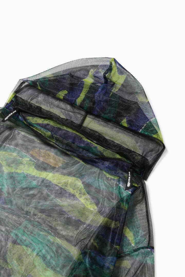 printed bug mesh hoodie