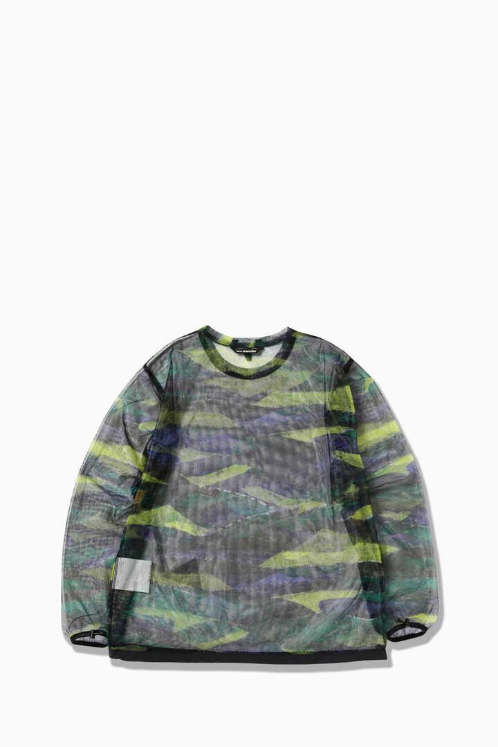 printed bug mesh pullover