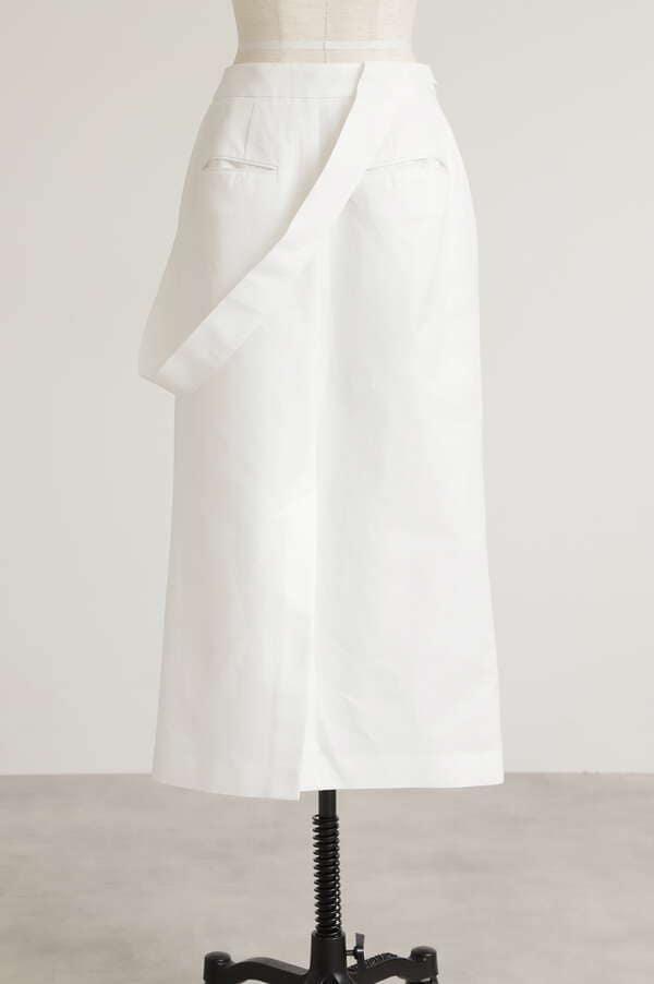 One-shoulder Double Slit Skirt