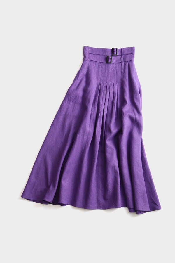 Double Buckle Flair Skirt