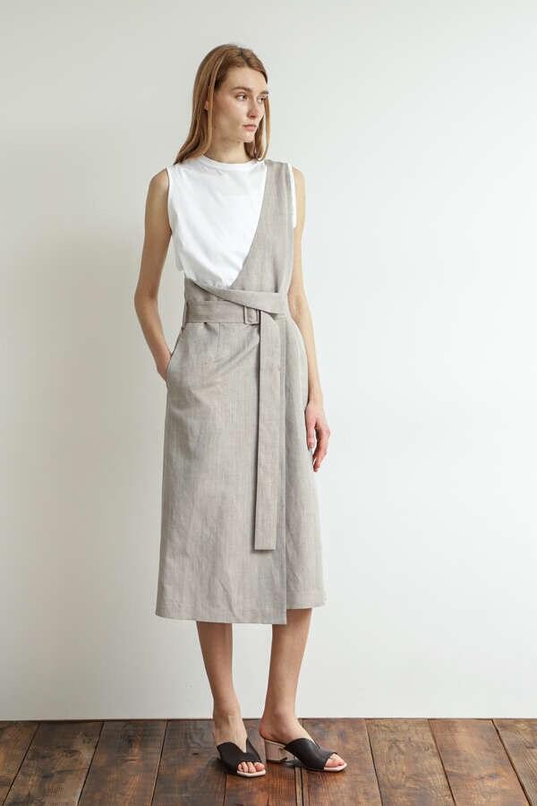One-shoulder Wrap Skirt
