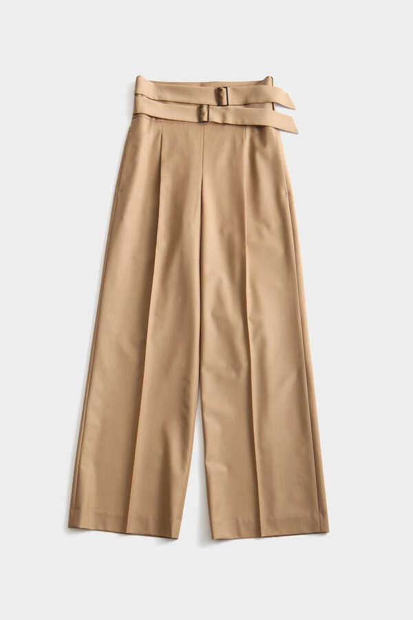 High Waist Double Buckle Pants