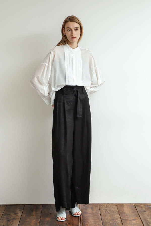 High Waist Tuck Pants