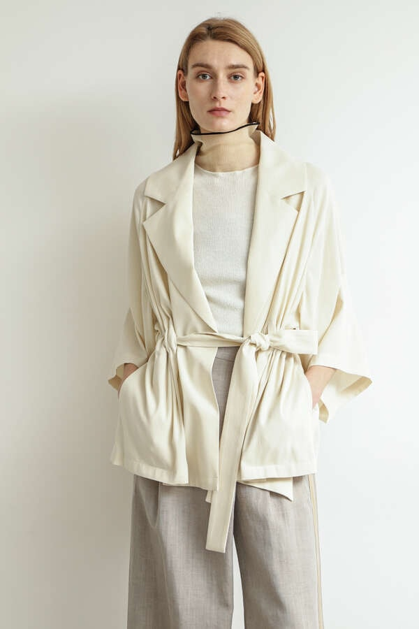 Belted Soft Tailored Jacket