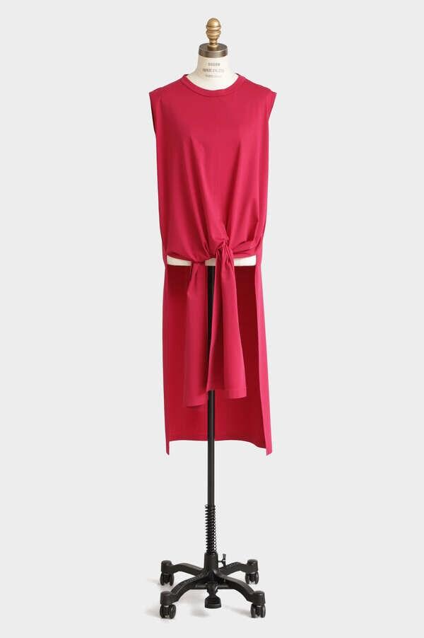 Long Slit Jersey Dress