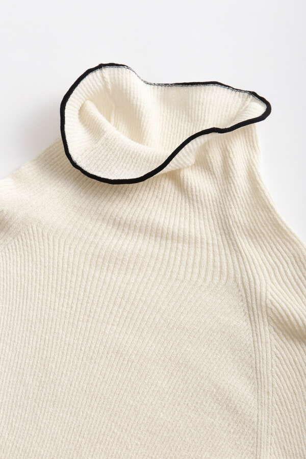 Sheer Combi Long Sleeve Rib Knit