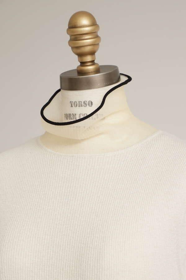Sheer Combi Sleeveless Rib Knit