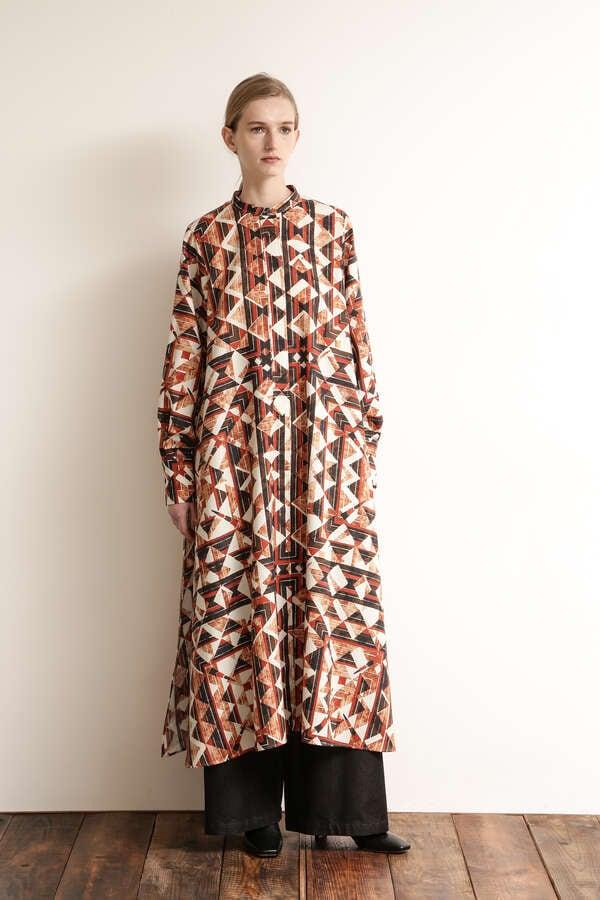 スリットシャツドレス