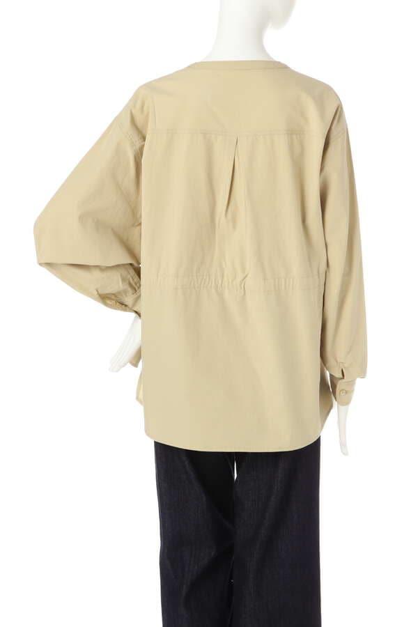 ウエストシャーリングノーカラーシャツ