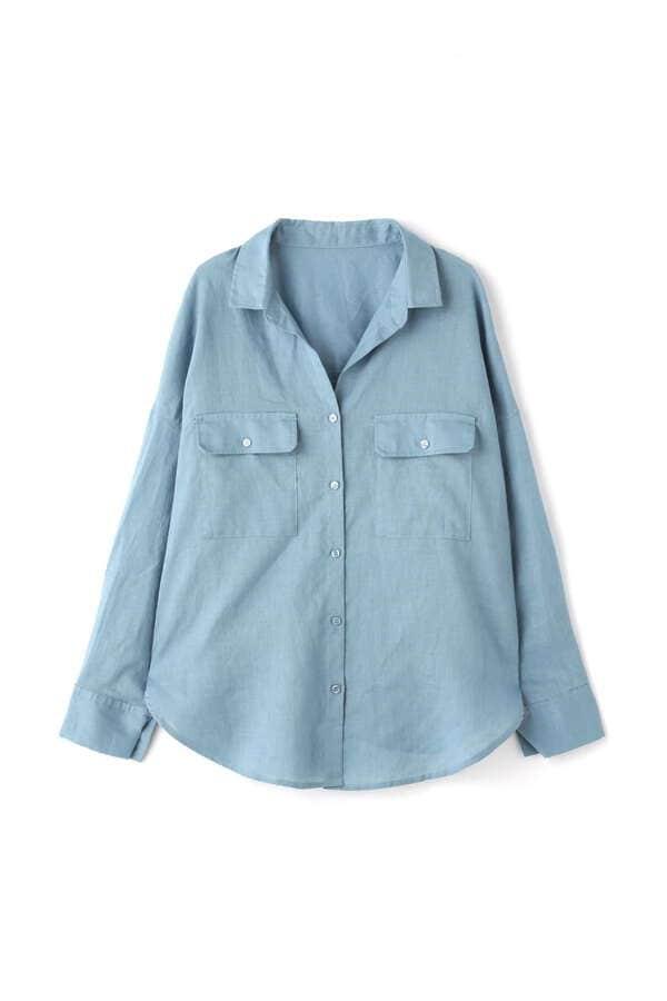 麻リラックスシャツ