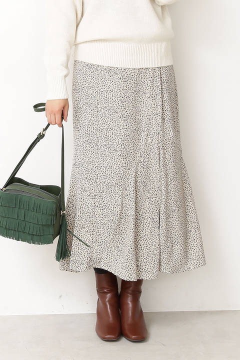 Aラインペプラムロングスカート
