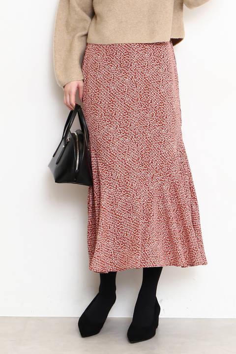 【先行予約1月上旬-1月中旬入荷予定】ペプラムマキシスカート