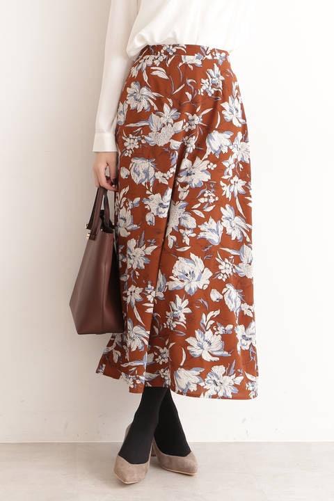 【先行予約2月上旬-2月中旬入荷予定】フラワープリントマキシスカート