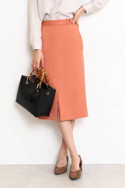 【先行予約2月下旬-3月上旬入荷予定】バックルタイトスカート