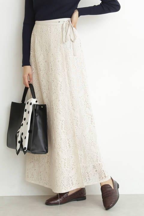 【先行予約2月下旬-3月上旬入荷予定】カシュクールレースマキシスカート