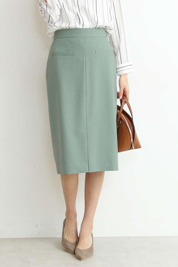 麻調タイトスカート