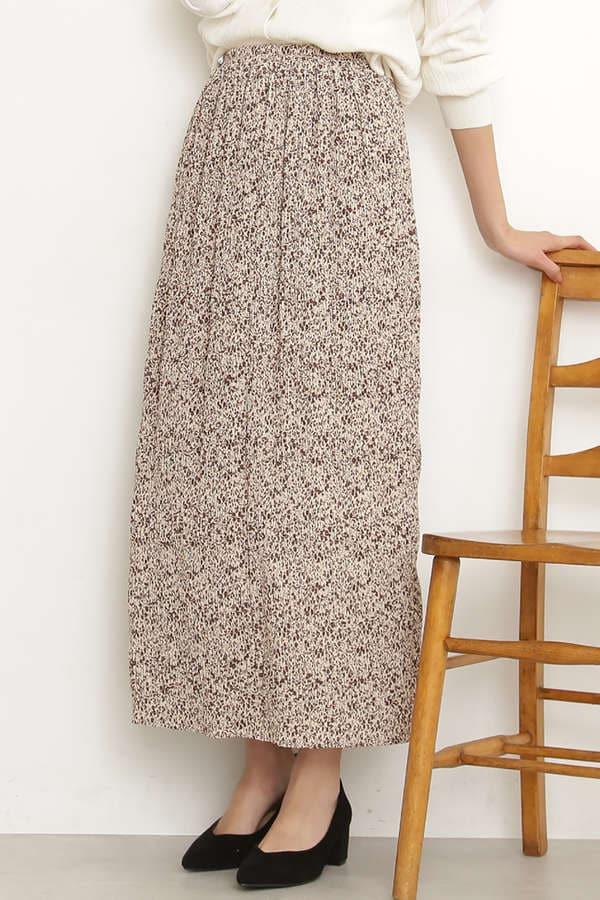 プリントナローマキシスカート