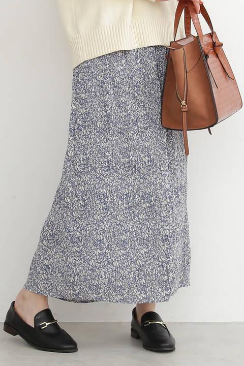 【先行予約3月中旬-3月下旬入荷予定】プリントナローマキシスカート