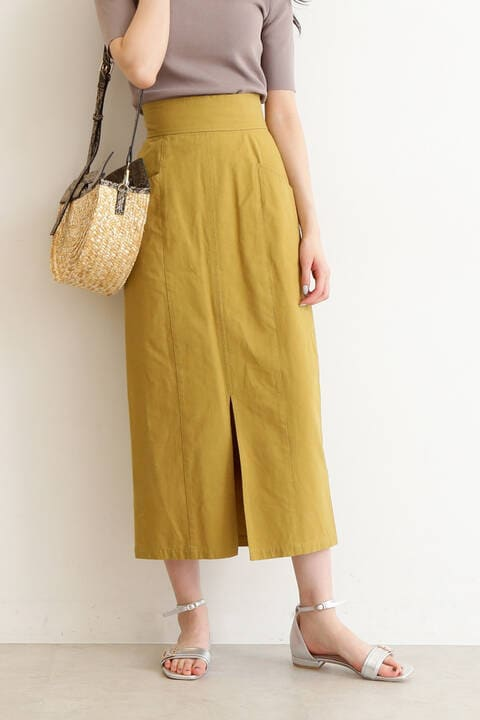 フロントスリットマキシスカート