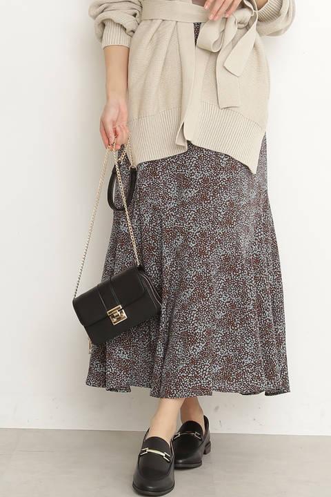 小花プリントペプラムAラインスカート