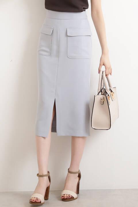 フロントポケットタイトスカート