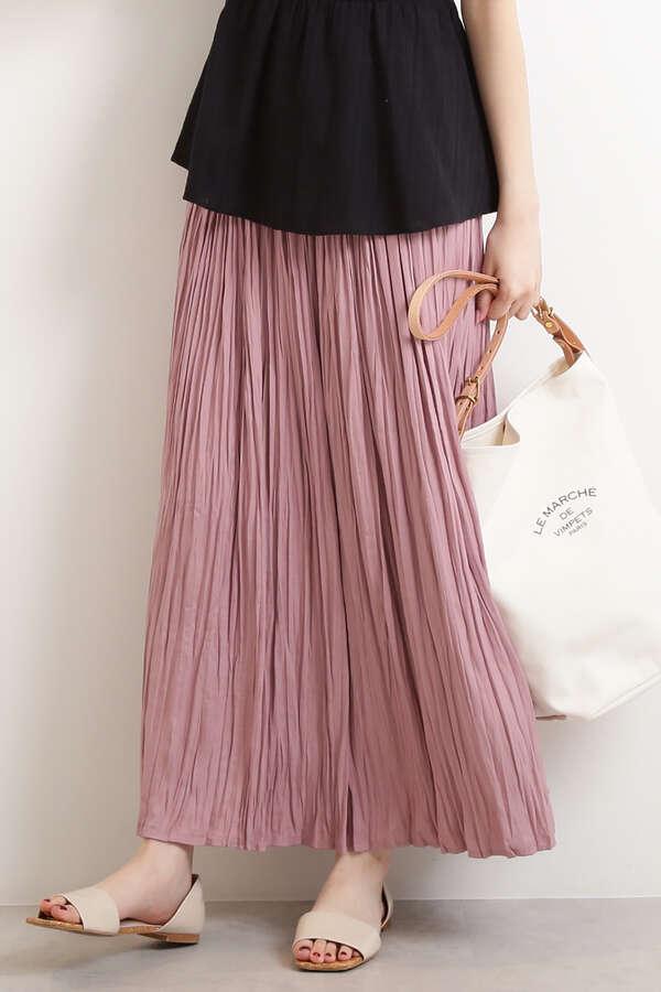 クリンクルマキシスカート