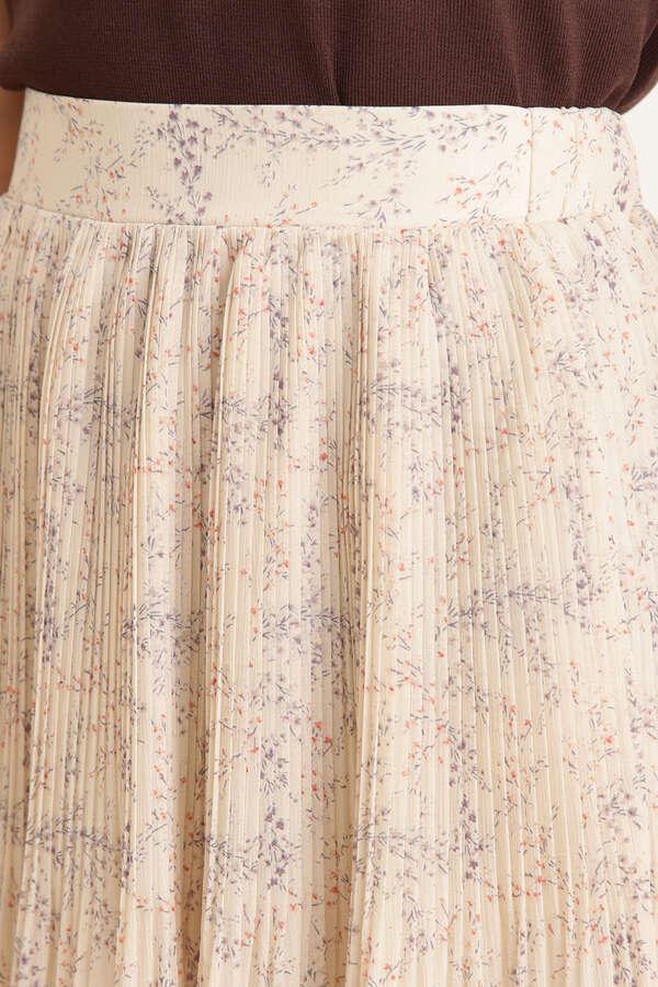 シフォンヨウリュウフラワープリーツスカート