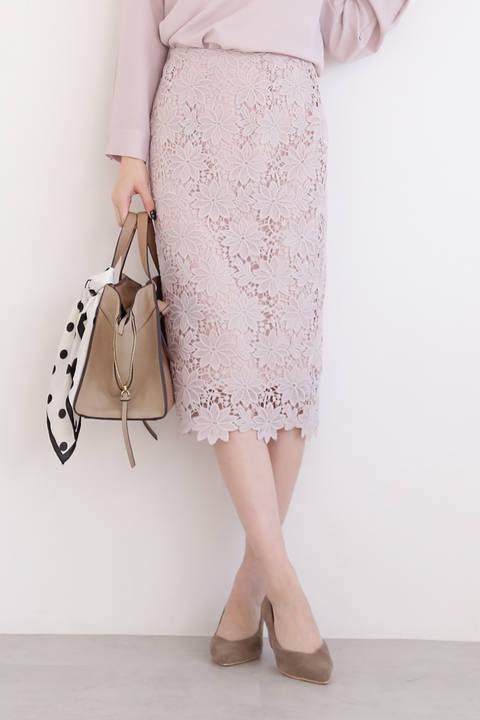 【追加生産予約1月下旬-2月上旬入荷予定】ケミカルレースタイトスカート