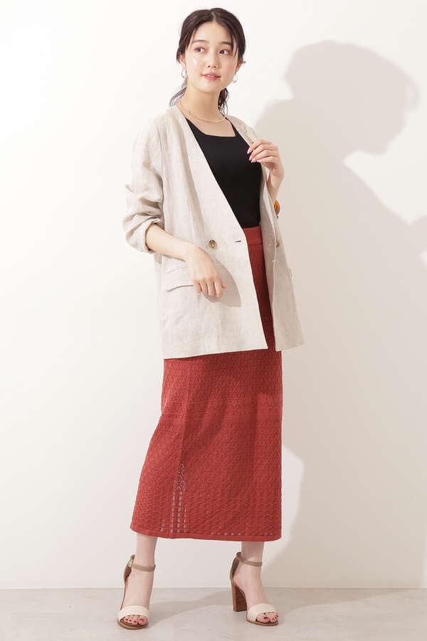 麻ノーカラージャケット