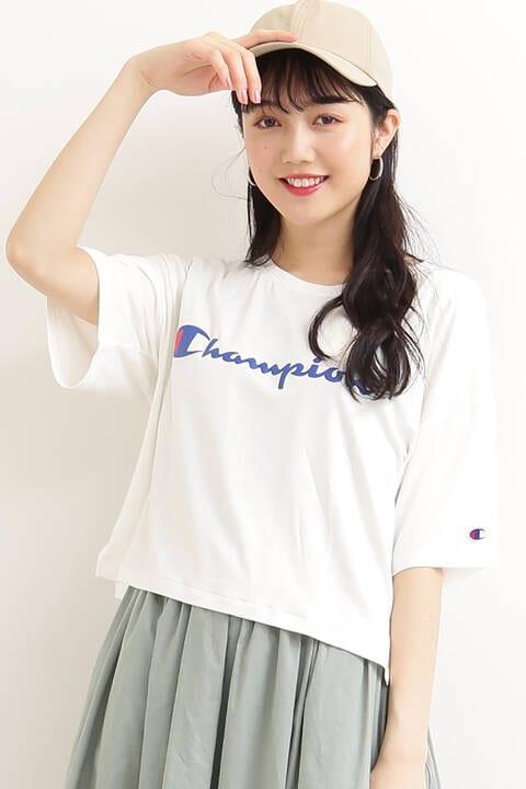 【Champion】クロップドTシャツ