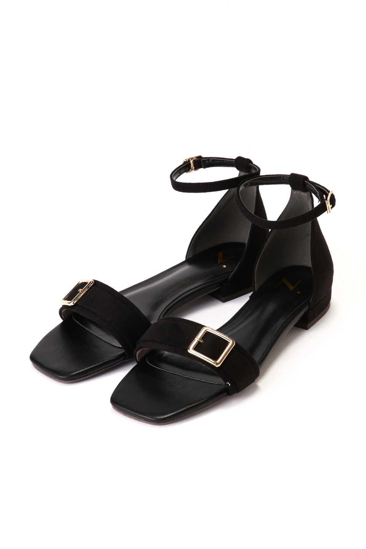 【公式/エヌ ナチュラルビューティーベーシック】バックルベルトフラットサンダル/女性/靴・サンダル・ミュール/ブラック/サイズ:M/