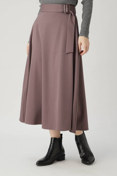 【先行予約10月中旬-10月下旬入荷予定】バックル付フレアスカート
