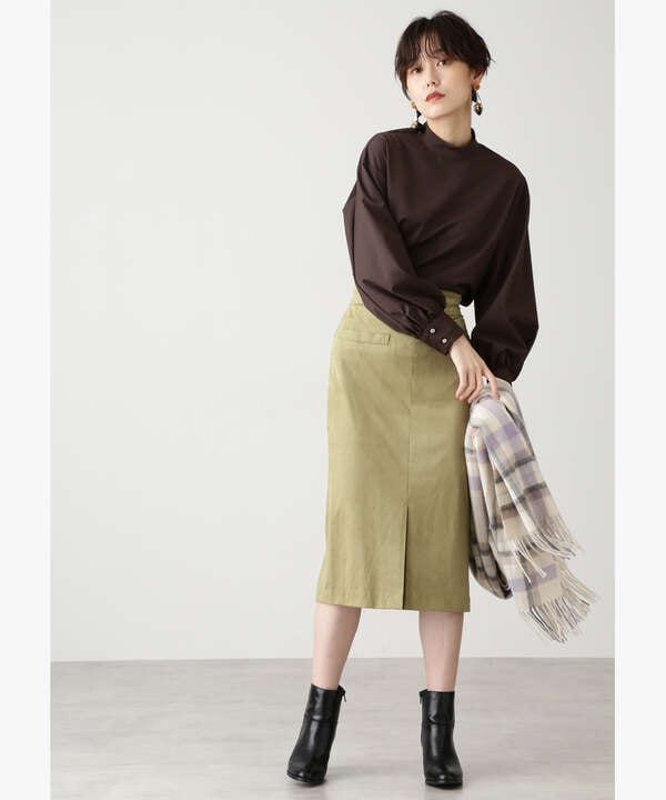 フェイクスウェードタイトスカート