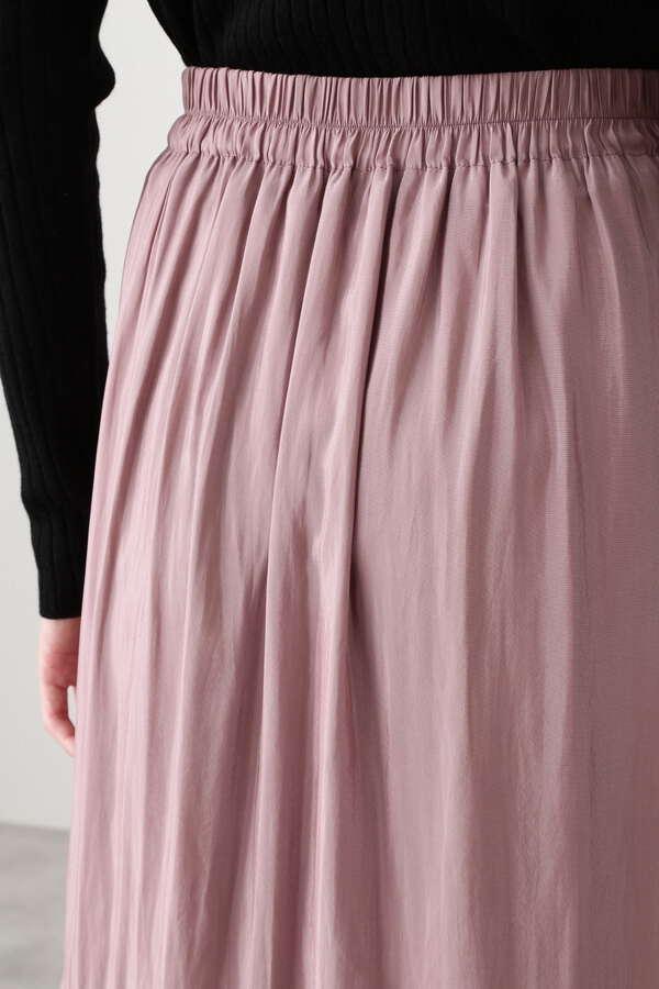 サテンギャザーマキシスカート